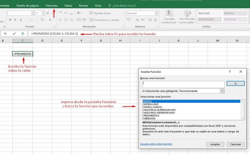 trabajo original de Excel