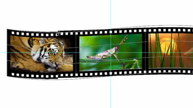 sencillo tutorial de Photoshop para crear una tira de película 3D