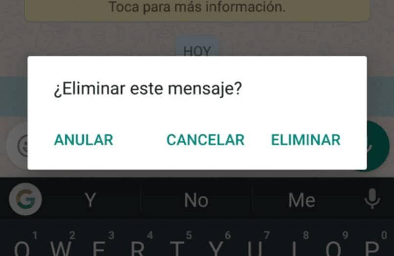 Eliminar un mensaje de WhatsApp antes de que lo vean