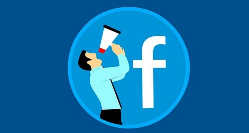 ilustración de facebook de una persona con altavoz