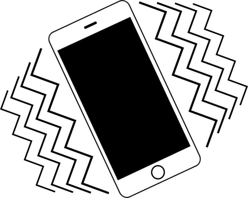 teléfono iphone vibrante
