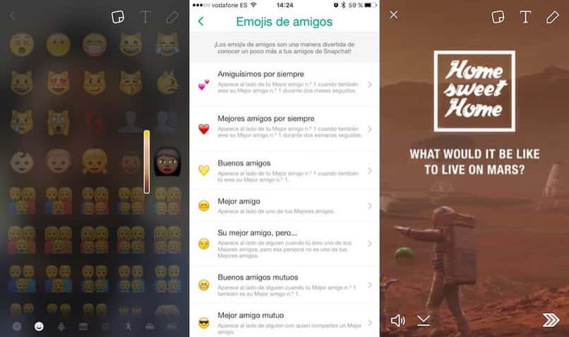 cambiar los textos de Snapchat del tamaño del color