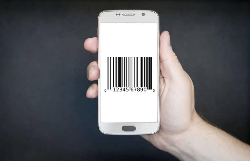 código de barras de mano móvil