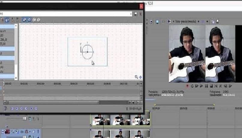 editor de video de pantalla dividida de sony vegas
