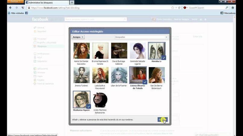 deshabilitar el acceso restringido en facebook