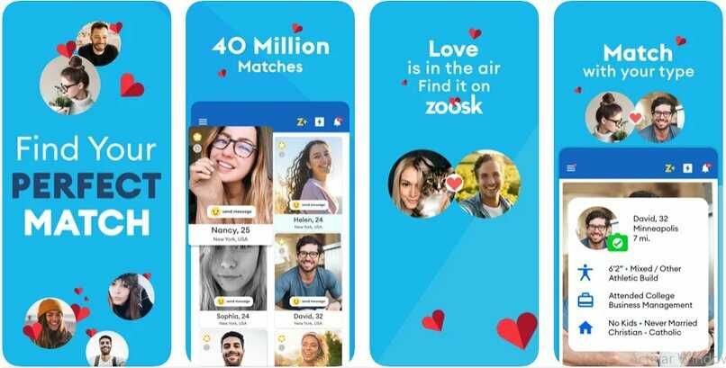 Aplicación Zoosk para conocer gente