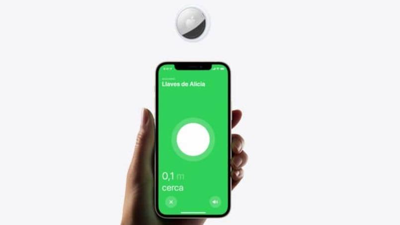 aplicación airtag del dispositivo