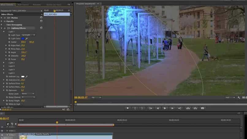 Efecto Flash azul de Adobe Premiere Pro