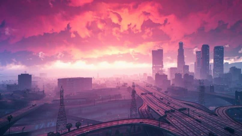 panorama de la ciudad en gta v
