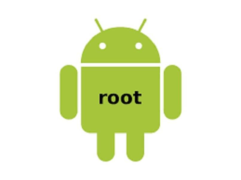 logotipo y raíz del sistema android