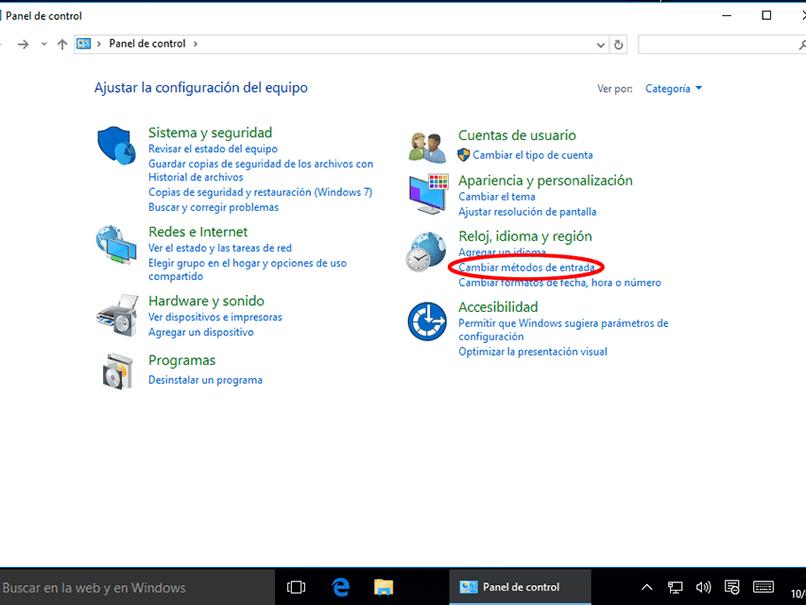configurar el teclado de la computadora portátil