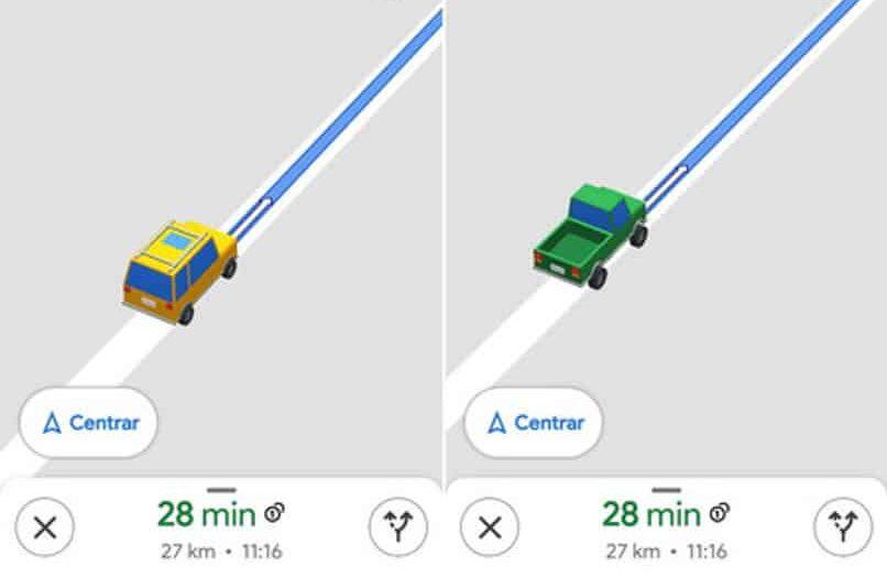 Cómo cambiar el ícono de flecha para un automóvil o un automóvil en Google Maps