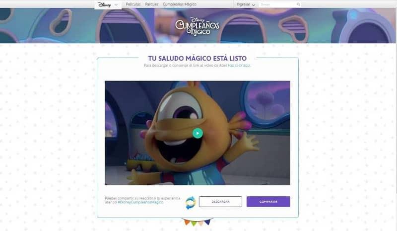 Cómo dar un mensaje personalizado con Disney Magic Birthday (ejemplo)