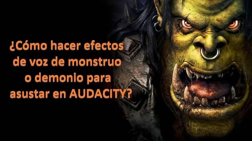 Cómo hacer efectos de voz de monstruos o demonios para asustar a AUDACE