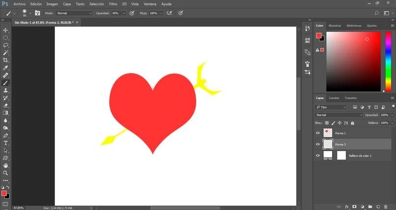 Flechas, corazones y números en Photoshop: personalización paso a paso