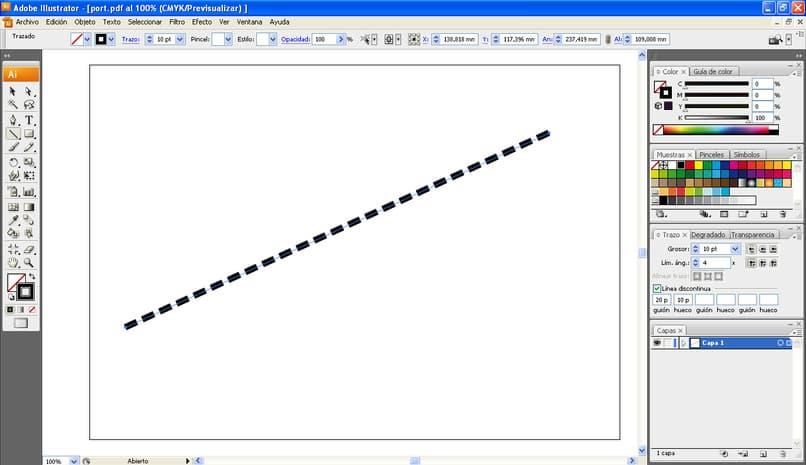 Cómo dibujar líneas discontinuas y guiones en Adobe Illustrator en unos sencillos pasos