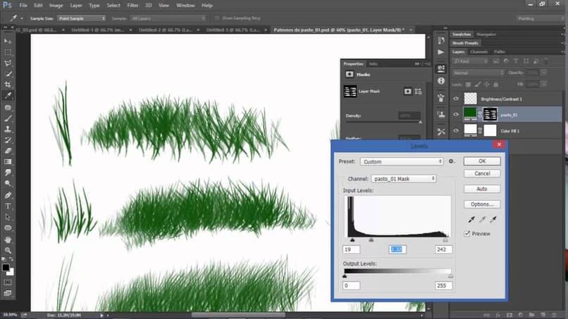 Cómo hacer o crear textura de césped, césped o césped en Adobe Illustrator