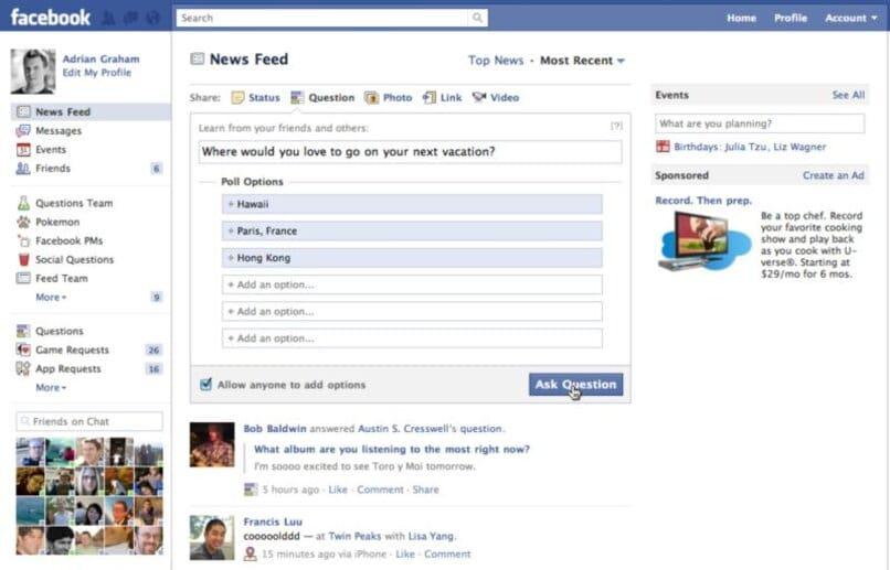 Cómo eliminar o eliminar mi voto en una pregunta o encuesta de Facebook
